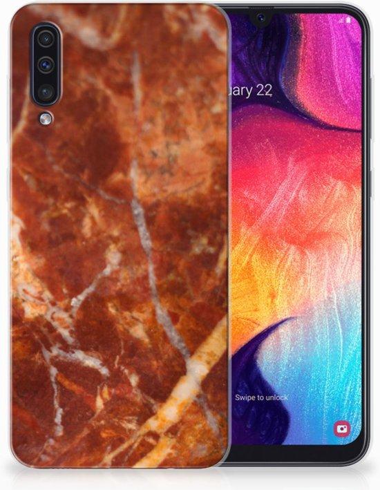TPU Siliconen Backcase Samsung Galaxy A50 Design Marmer Bruin