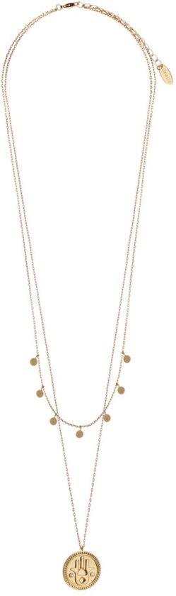 Orelia ORE21027 Ketting - Dames - goudkleurig - 59cm+5cm