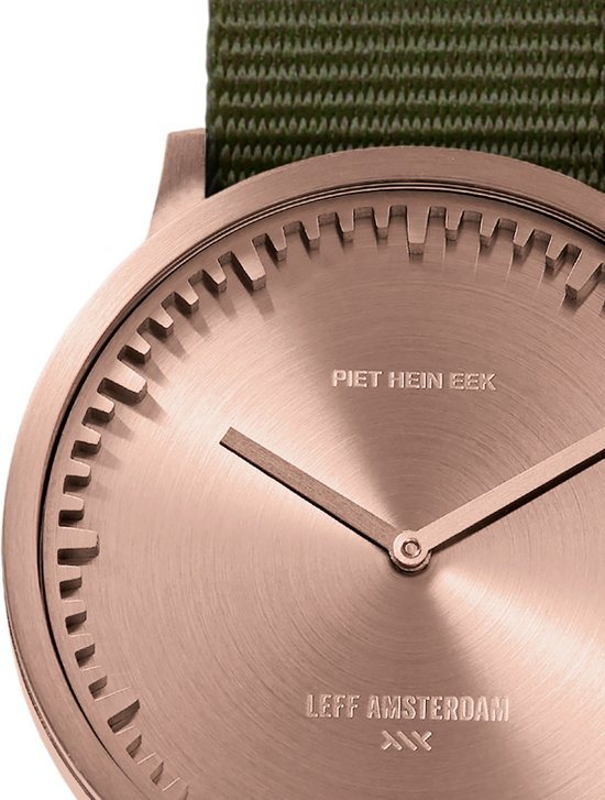 Tube watch T40 rose gold / green nato strap