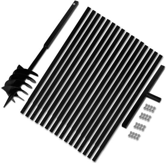 Grondboor met handvat 180 mm en verlengstukken 17 m (staal) (incl. Werkhandschoenen)