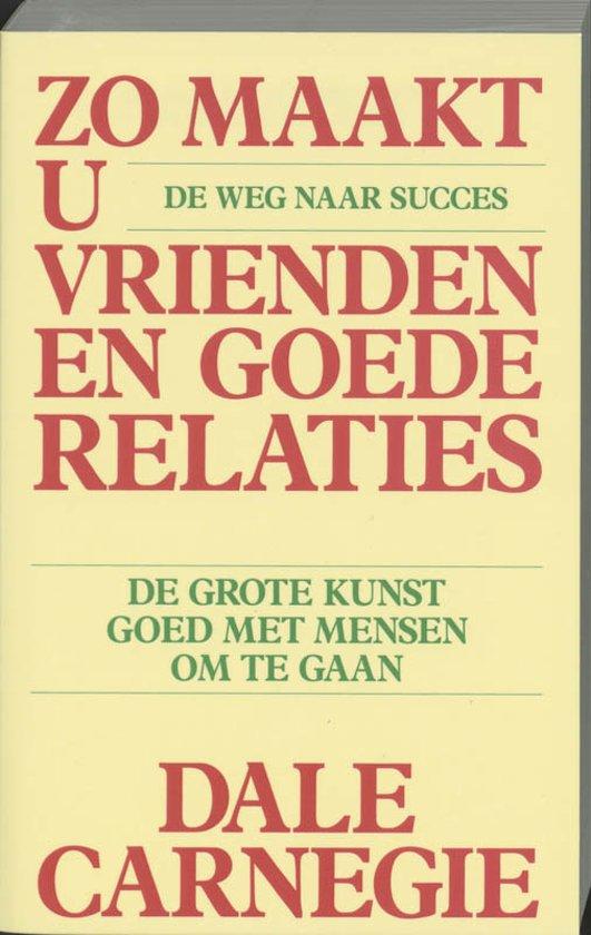 Boek cover Zo maakt u vrienden en goede relaties / druk HER van Dale Carnegie (Paperback)