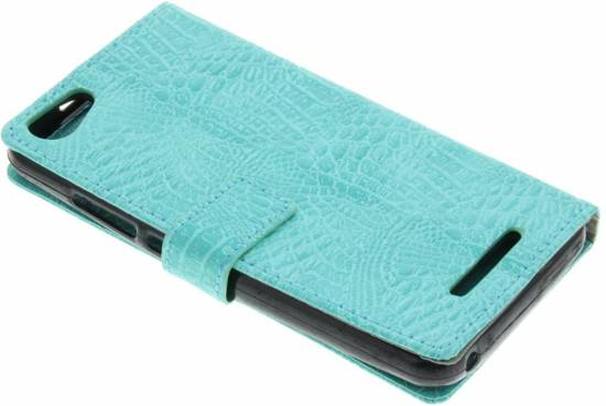 Crocodile Turquoise Cas Booktype Tpu Pour Wiko Jerry kYWb3QrK