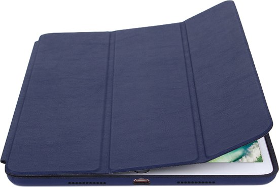 Apple iPad 9.7 (2017 / 2018) Hoes Smart Book Case Donker Blauw - Tri-Fold van iCall