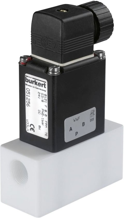 G3/8'' PP 24VDC Magneetventiel Burkert 0121 52161 - 52161
