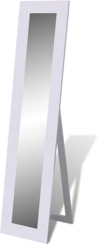 vidaXL - Staande spiegel Vrijstaande spiegel volledige lengte (wit)
