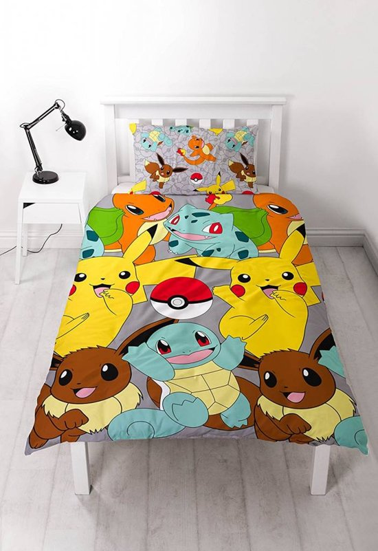Pokémon All - Dekbedovertrek - Eenpersoons - 135 x 200 cm - Multi