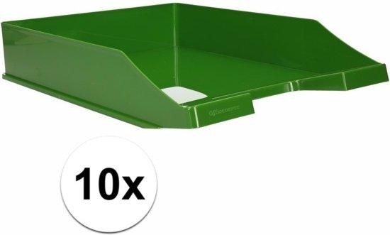 Brievenbakjes groen A4 formaat 10 stuks