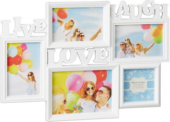 Fotolijst 5 Fotos.Bol Com Relaxdays Fotolijst Live Love Laugh Collagelijst Voor 5