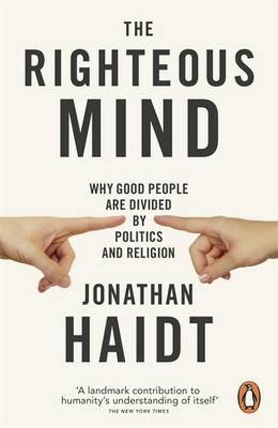 Boek cover The Righteous Mind van Jonathan Haidt (Paperback)