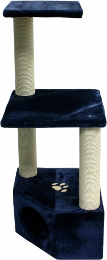 Duvo+ Krabpaal Olivia - Krabpaal - 40cm x 40cm x 158cm - Blauw