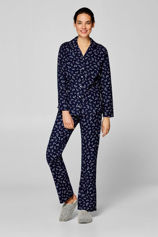 008adfbf0cd bol.com | Blauwe flanellen pyjama Esprit