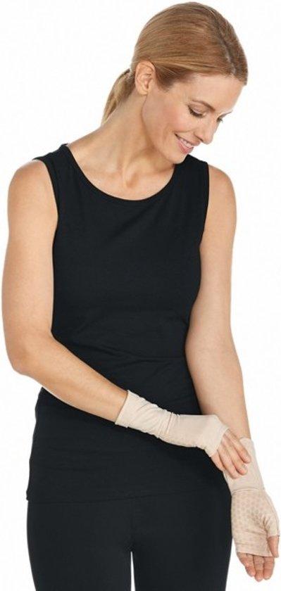 Coolibar UV mouwen met handen Dames - Beige - Maat M