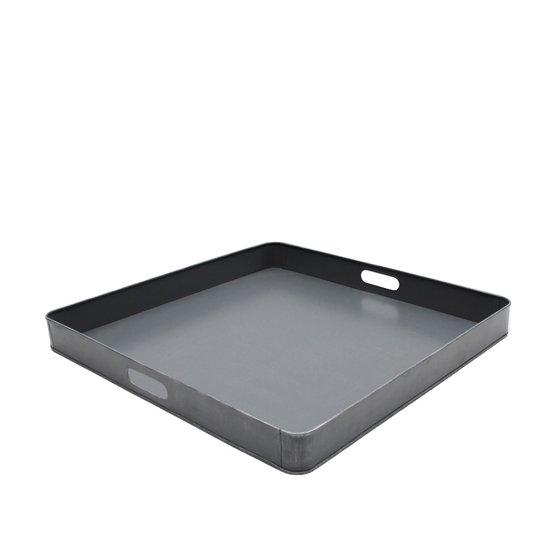 LABEL51 - Dienblad - Metaal - Antiek grijs - XL