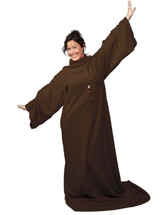 Fleece Deken Met Mouwen.Snug Rug Cosy Fleece Deken Met Mouwen Choco Bruin Tv Deken Plaid Warmte Deken
