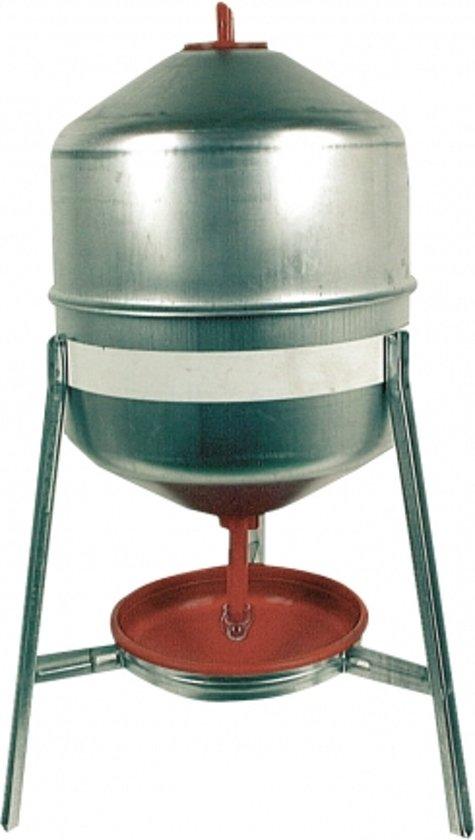 Duvo+ Drinkreservoir Kippen Galvanise 30L - Drinkbak - Grijs