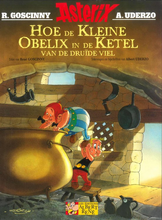Boek cover Asterix 1 - Hoe de kleine Obelix in de ketel van de druide viel van Albert Uderzo (Paperback)