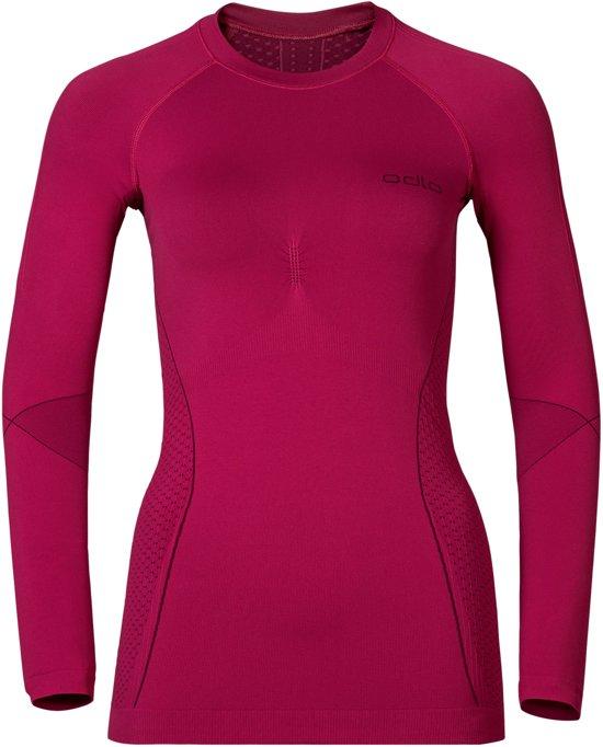 Odlo Evolution Warm - Sportshirt - Dames - Roze - Maat M