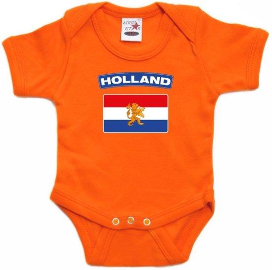 Babykleding Baby.Bol Com Oranje Rompertje Hollandse Vlag Baby Oranje Babykleding