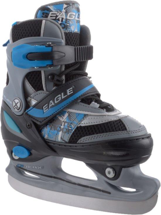 Eagle Skate/Schaats Combo - Semi-Softboot - Grijs/Zwart/Zilver/Blauw - 30-33