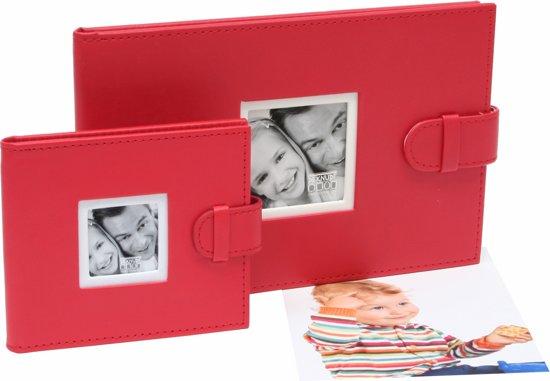 Deknudt Frames slip-in album rood, leder fotomaat 6x8 cm