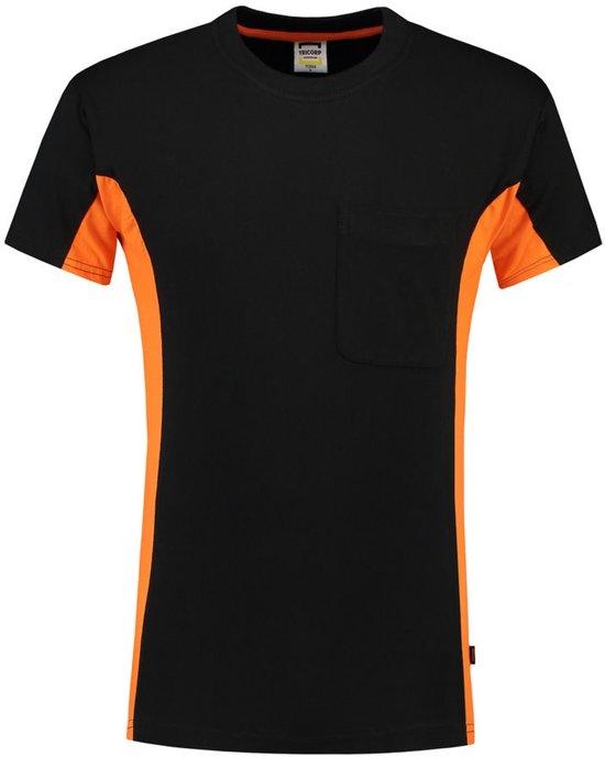 Tricorp bi-color t-shirt - Workwear - 102002 - zwart-oranje - maat  M