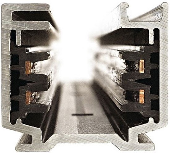 SLV EUTRAC 3-fase rail Spanningsrail Zwart 145100