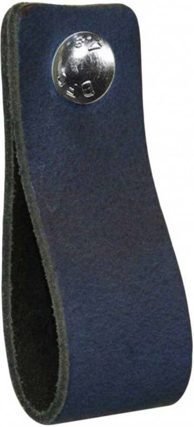 NiiNiiX Leren handgreep Jeans donker blauw - Maat S 3,0 x 15 cm;
