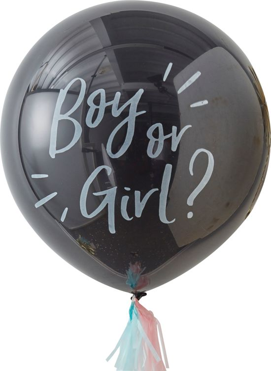 Ginger Ray Gender Reveal XL ballon Ø 90 cm - Set-1 (excl helium) Valentinaa