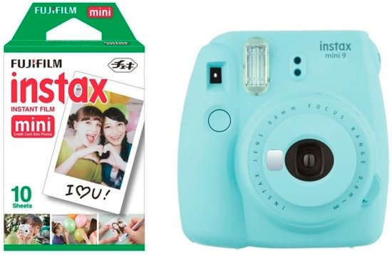 Fujifilm Instax Mini 9 - Incl. Instax Film Mini 10st - Ice Blue