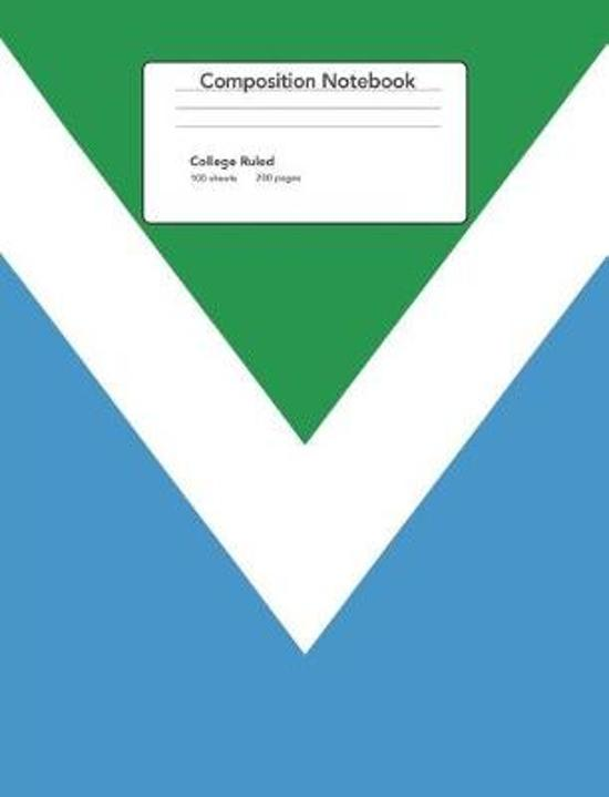 Vegan Flag Composition Notebook