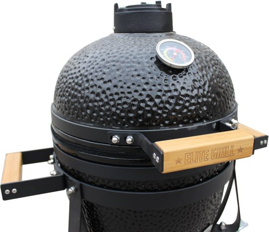 EliteGrill 35 Black BBQ - Barbeque - Kamado + afdekhoes