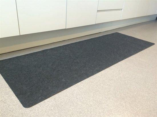 Bol loper voor keuken of gang antraciet tapijtloper