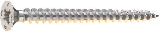 Heco universele schroef 4,0x50 mm - combikop - verzinkt - 200 stuks