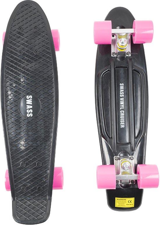Wonderbaarlijk bol.com | SWASS Vinyl Cruiser - Skateboard Penny Retro - Zwart/Roze GI-61