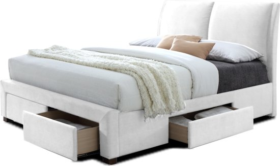 Bed Met Matras : Bol.com bed babano 160x200 lattenb. pu wit