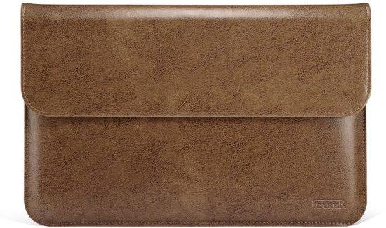 iCarer - Laptop Sleeve 13 inch - Sleeve Echt Leer Licht Bruin
