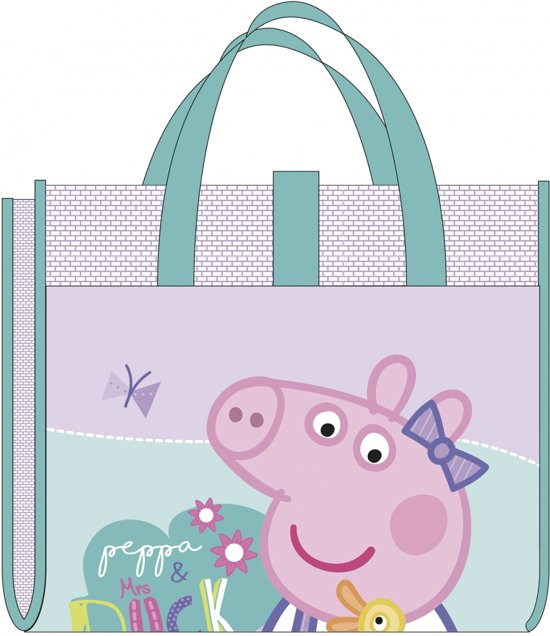 Peppa Pig Strandtas En Mat 150 Cm Roze/mintgroen
