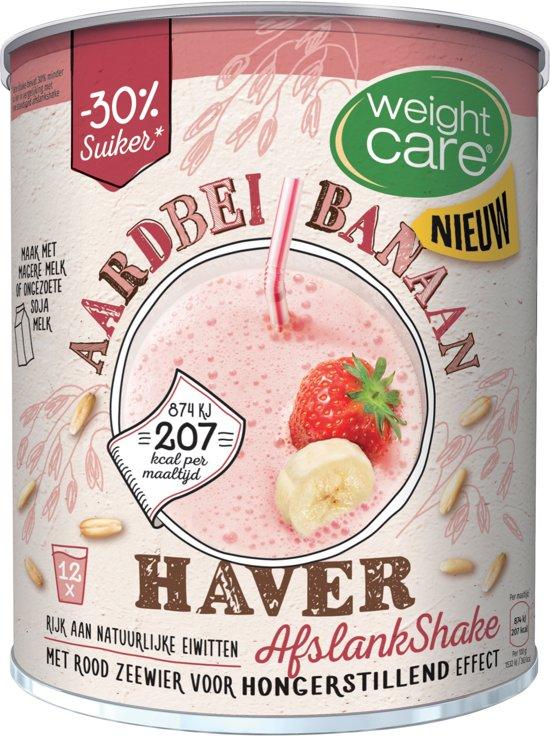 WeightCare Havershake Aardbei Banaan - 420 gr