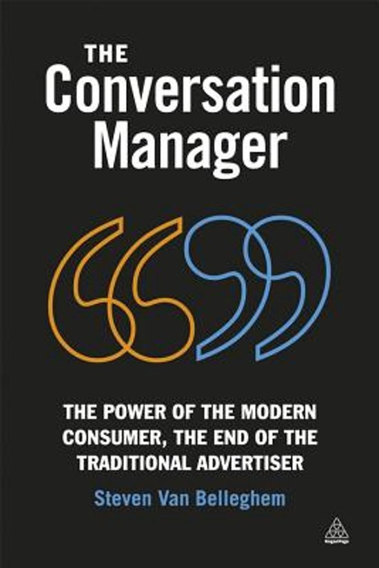 Boek cover The Conversation Manager van Steven van Belleghem (Onbekend)