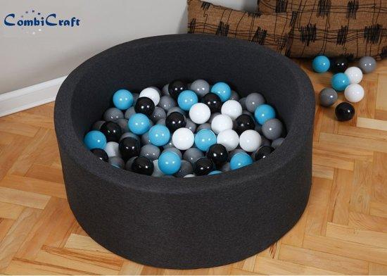 Zwarte ballenbak / ballenbad met 200 ballenbakballen