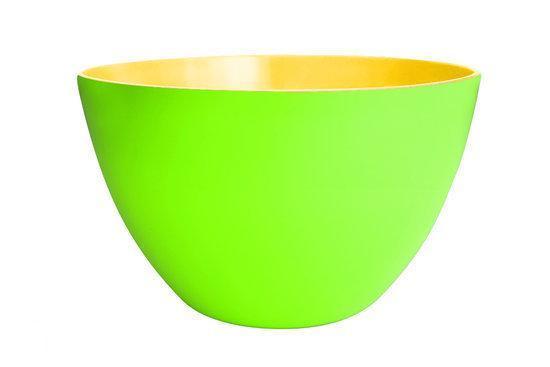 Zak!Designs Duotone Saladeschaal - 28 cm - Groen-Geel