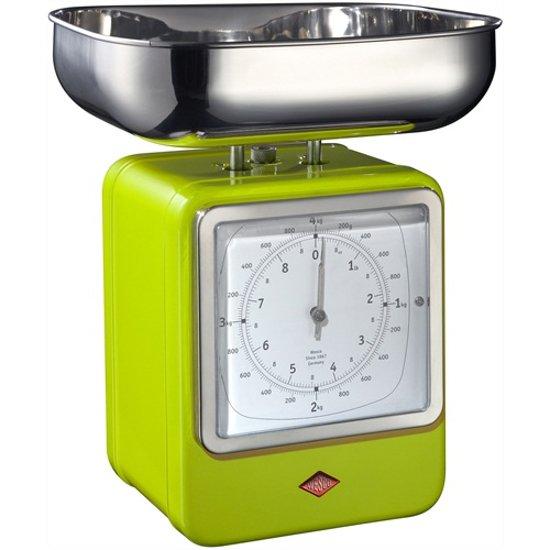 Wesco Keukenweegschaal met klok Lime Green