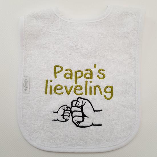 """Witte slab met """"Papa's lieveling"""""""