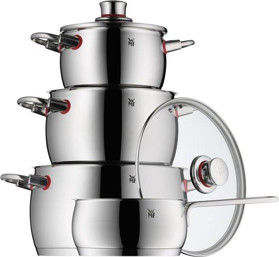 WMF Quality One Pannenset 4-delig met steelpan