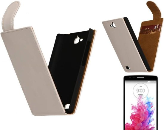 MP Case Classic Flip Hoes voor LG G3 S (mini) D722 Wit in Perk