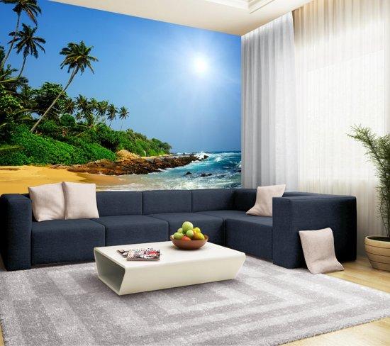 Fotobehang, Muurposter, Sri Lanka tropisch strand 350 x 260 cm. Art. 97069