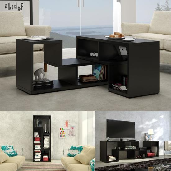 bol.com | TV meubel - salontafel - boekenkast 3 in 1 (zwart)