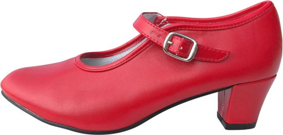 Spaanse Flamenco schoenen rood - maat 37 (binnenmaat 23,5 cm)