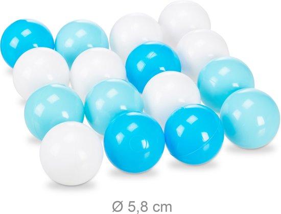 relaxdays ballenbak onderwaterwereld - 100 ballen - pop-up speeltent - binnen   buiten