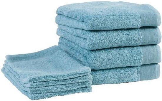 Walra Handdoeken en Washandjes - Badgoedset - Petrol- Set van 8